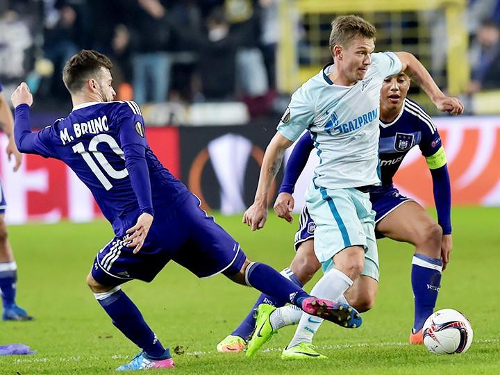 Лига Европы. «Андерлехт» – «Зенит» – 2:0