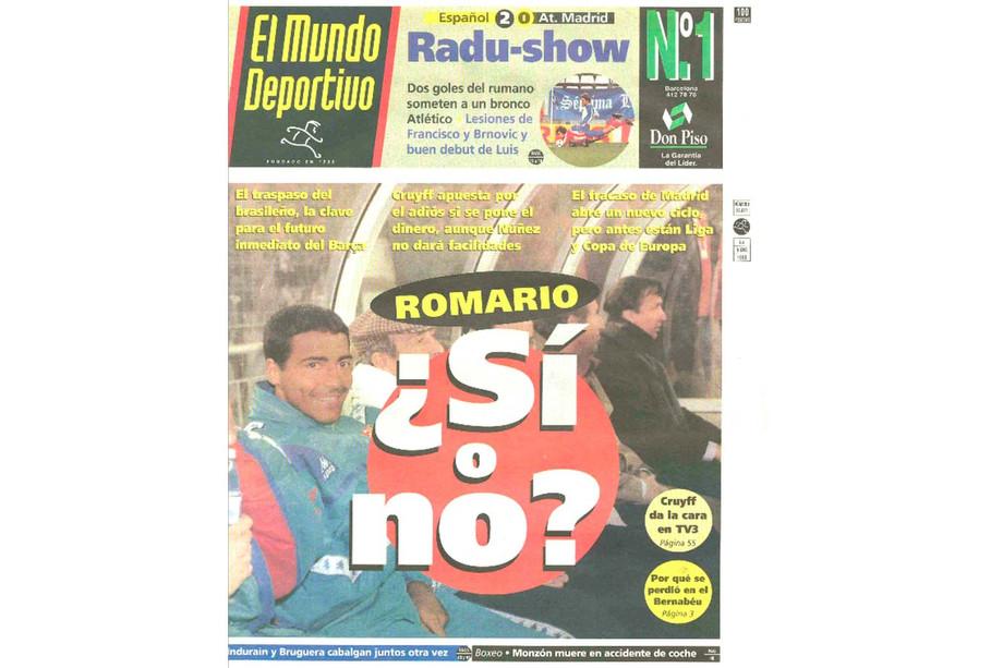 Обложка El Mundo Deportivo от 8 января 1995 года