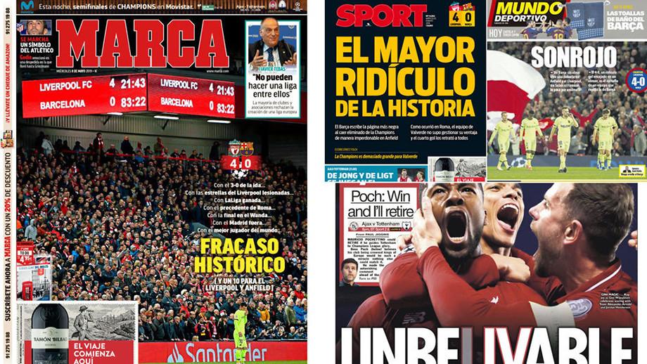 «Энфилд» раздавил «Барсу», как таракана». СМИ Европы — о чуде «Ливерпуля»