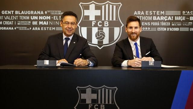 Месси подписал новый контракт с «Барселоной»