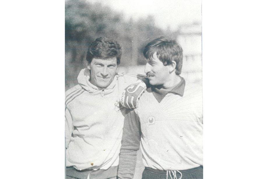 Тарасовка. Вратари «Спартака» — Дасаев и Черчесов. 1986