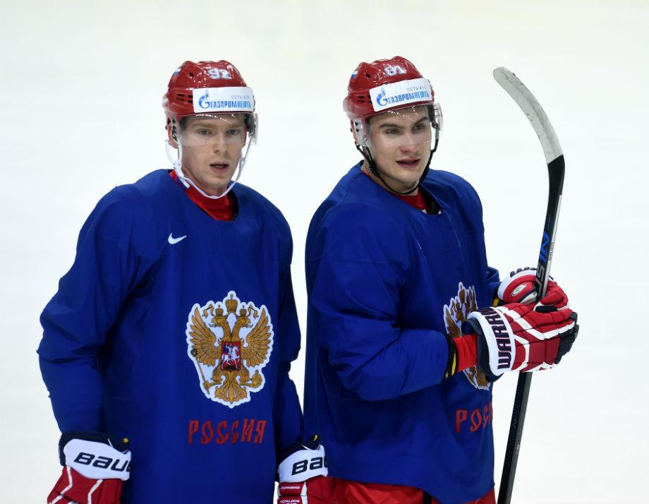 Евгений Кузнецов и Дмитрий Орлов в сборной России