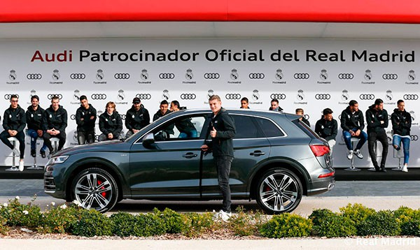 Футболистам «Реала» вручили ключи от новых автомобилей Audi