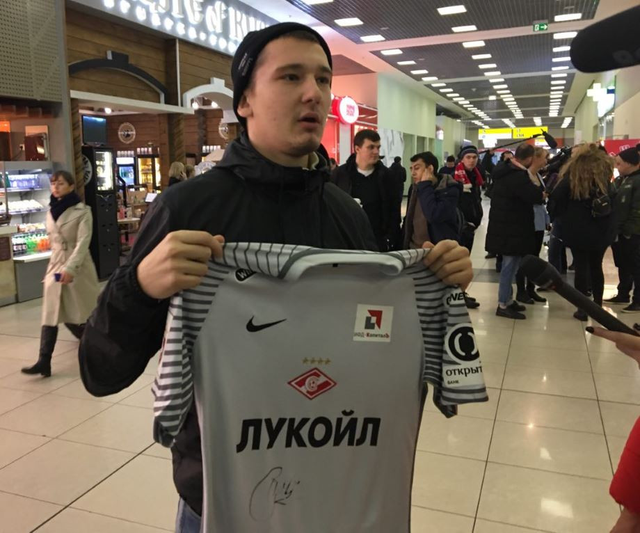 Fan of Spartak, Carrera's autograph