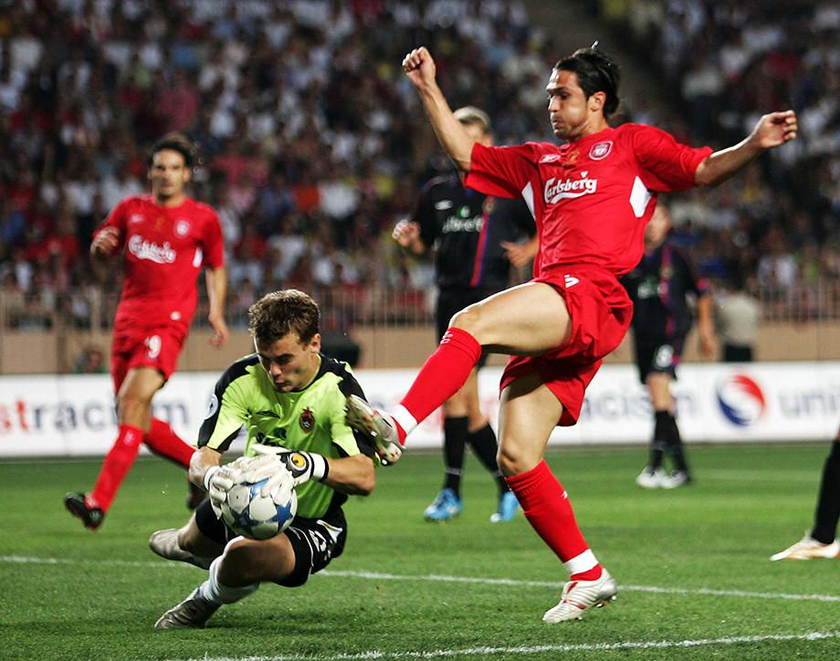Суперкубок Европы — 2005, Ливерпуль – ЦСКА – 3:1, голы, видео