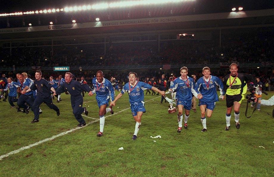«Челси» после победы в Кубке кубков, 1998 год
