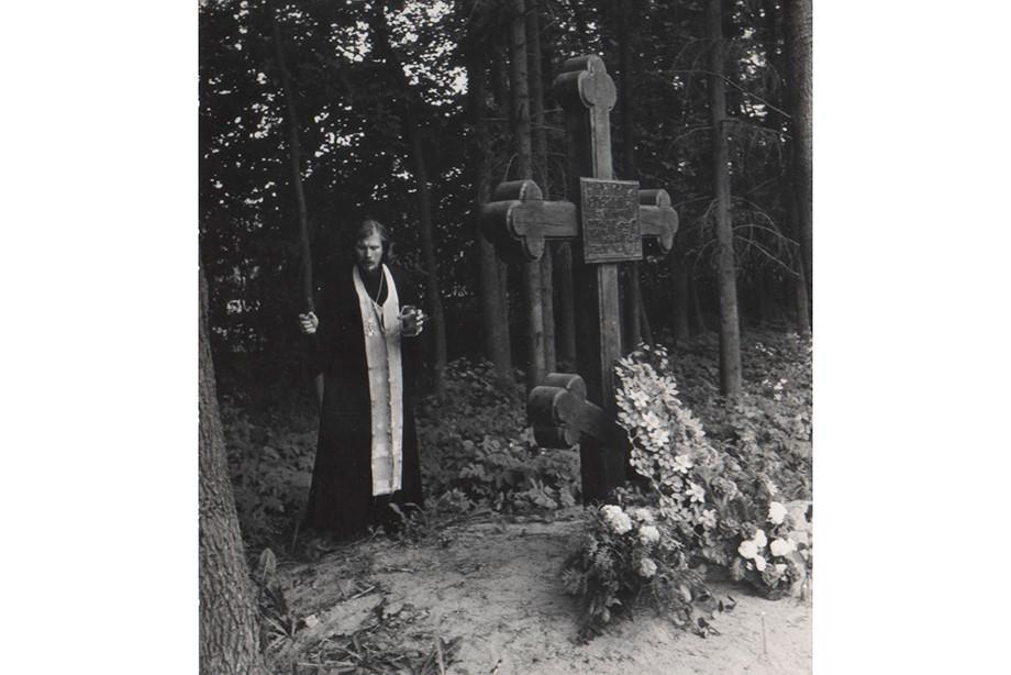 Крест на месте гибели Михаила Ерёмина