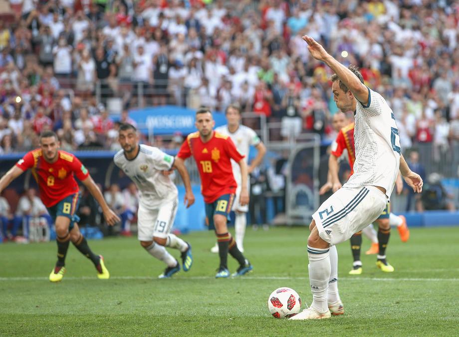 ЧМ-2018. Испания — Россия. Дзюба реализует пенальти