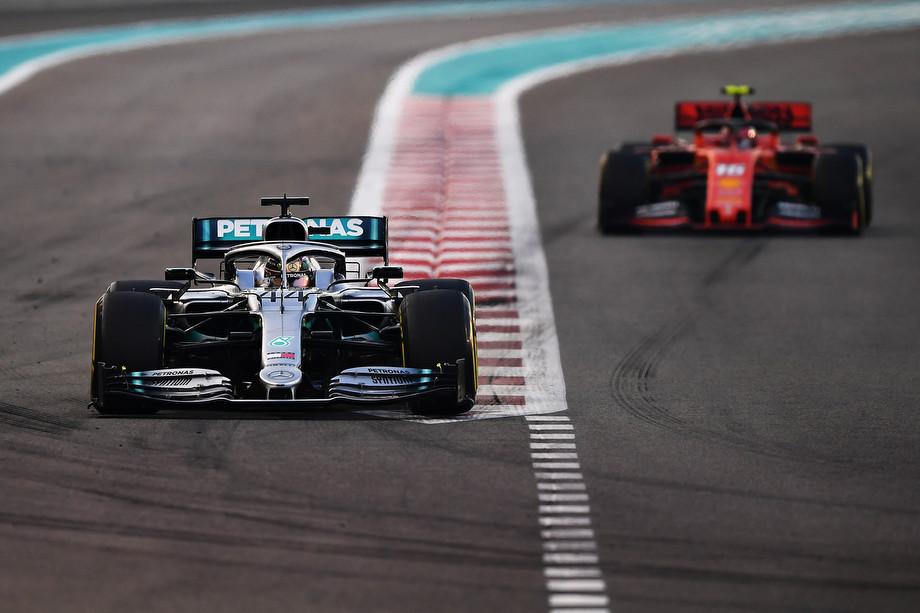 Хэмилтон и Леклер на Гран-при Абу-Даби-2019