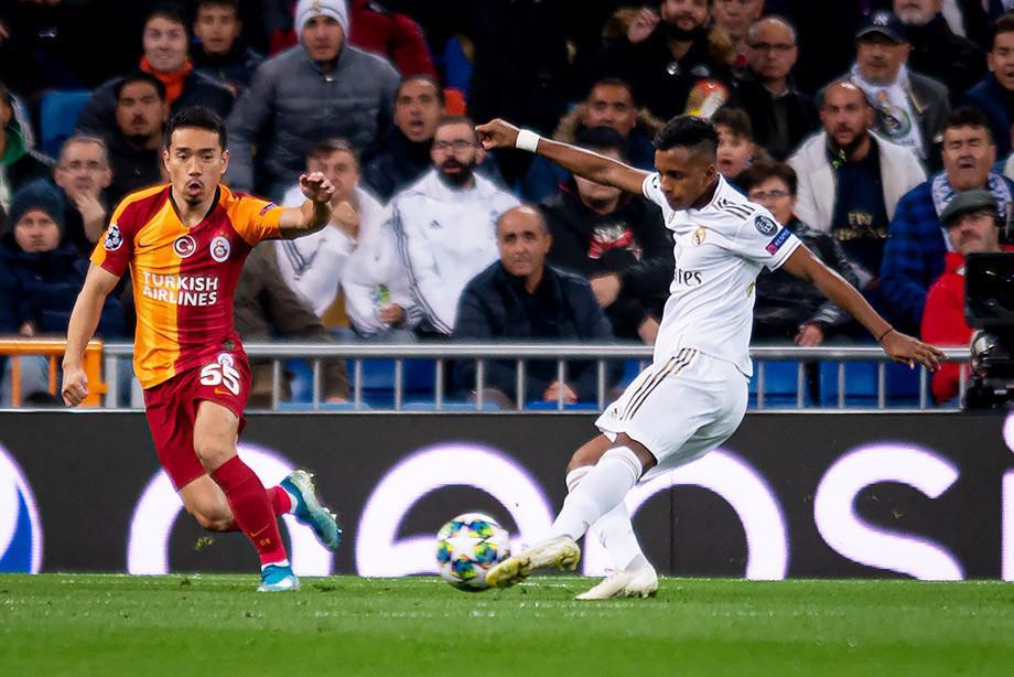 Родриго в матче с «Галатасараем»