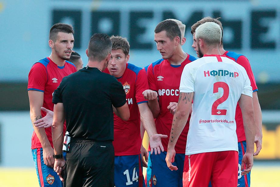 Удаление Кирилла Набабкина на Кубке Матч Премьер