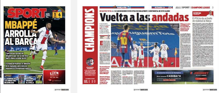 «Барселона» — «ПСЖ», 1:4. Мбаппе обыграл Месси – реакция СМИ