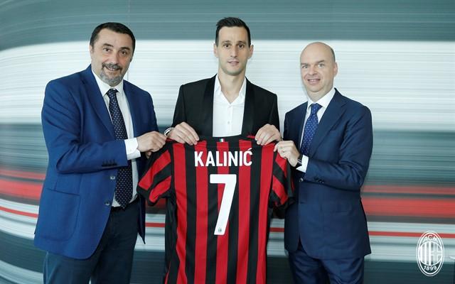 «Милан» объявил о переходе Калинича