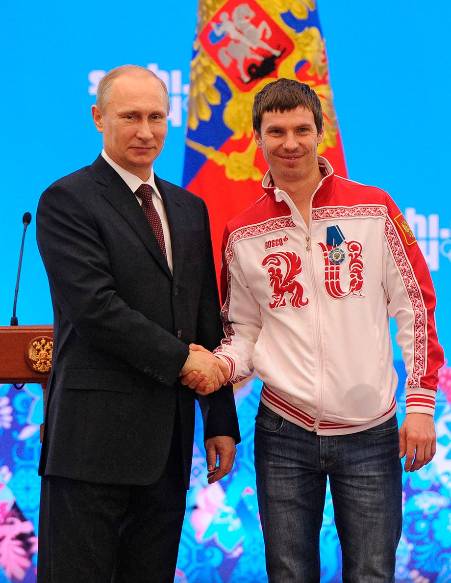 Владимир Путин и Евгений Устюгов