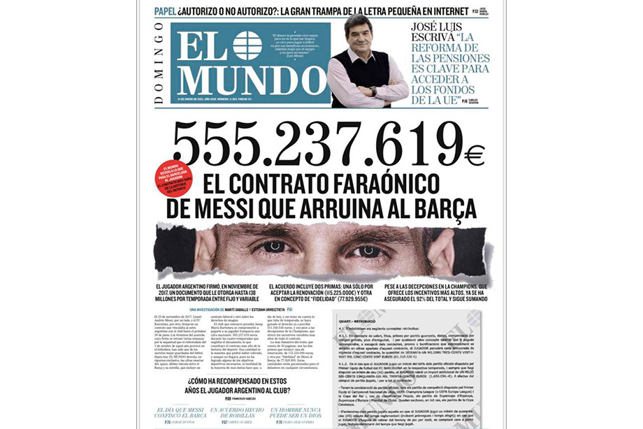 Полмиллиарда за четыре года! Контракт Месси погубил «Барселону»?