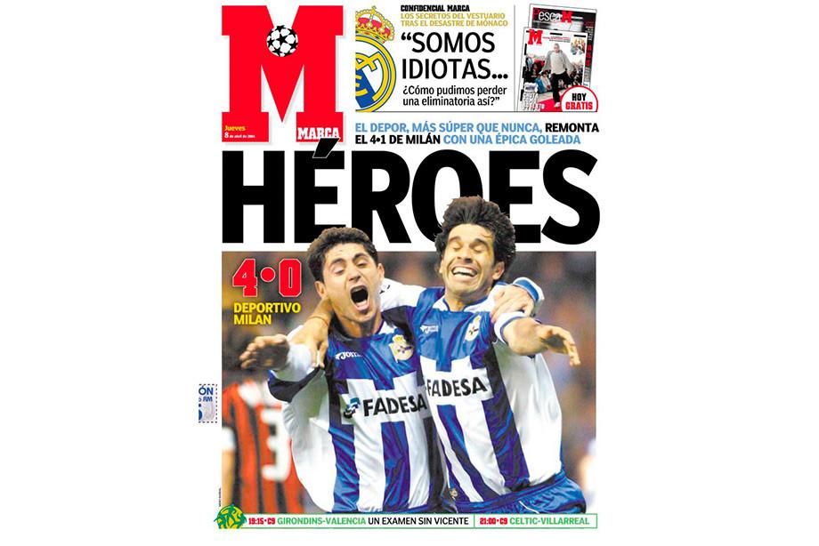 Обложка испанской газеты Marca