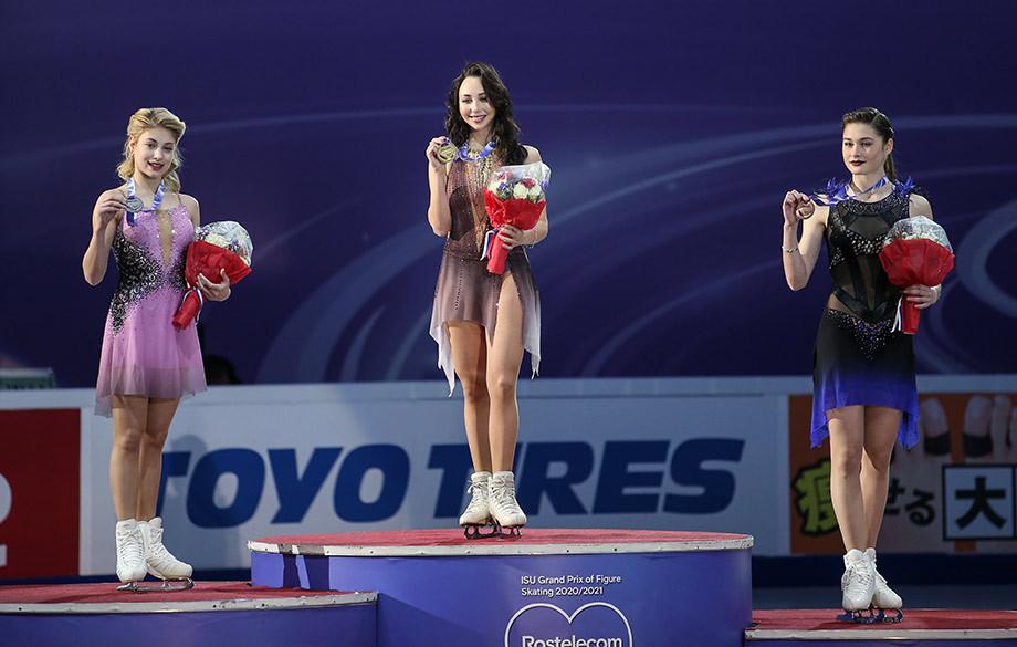 Елизавета Туктамушева — победительница этапа Гран-при по фигурному катанию в Москве