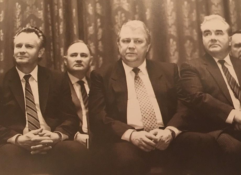 Слева направо: Николай Русак, Виталий Смирнов и глава советского спорта в 1968-83 гг. Сергей Павлов