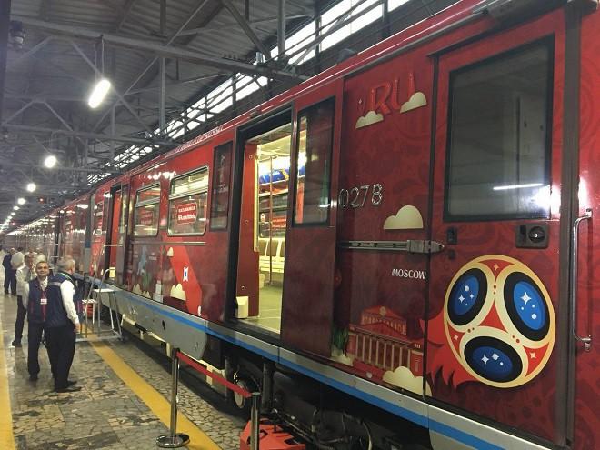 В московском метро представили поезд с символикой чемпионата мира—2018