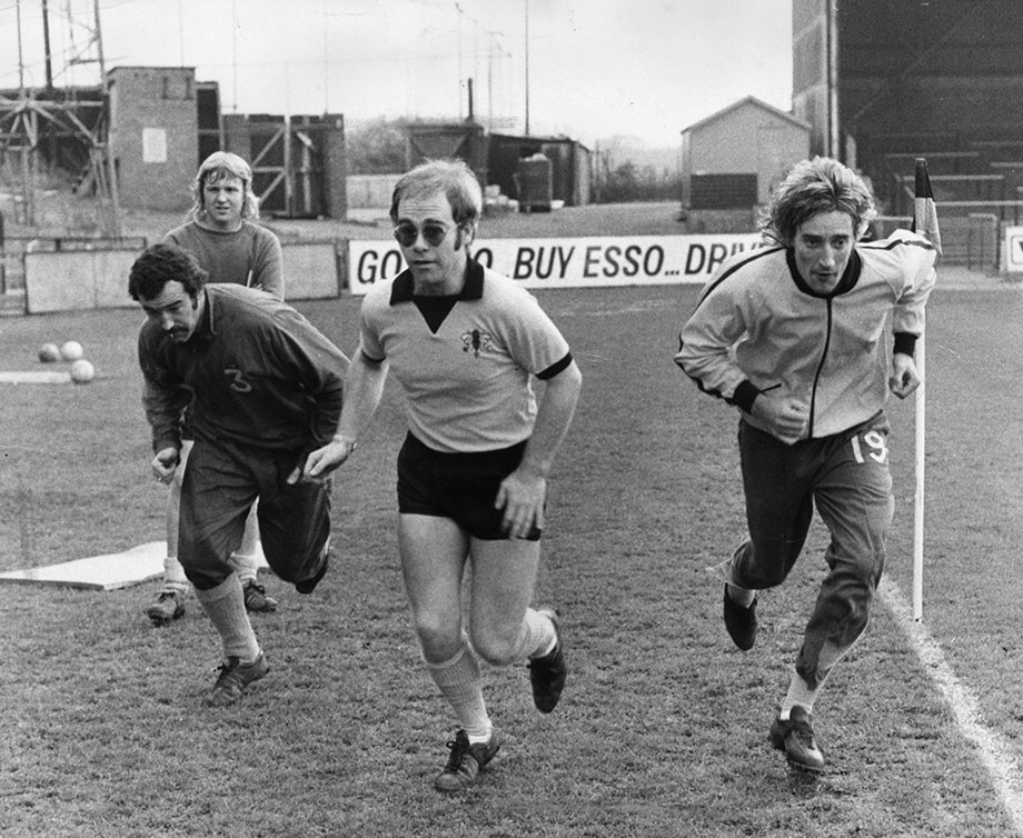Элтон Джон и Род Стюарт в форме «Уотфорда».