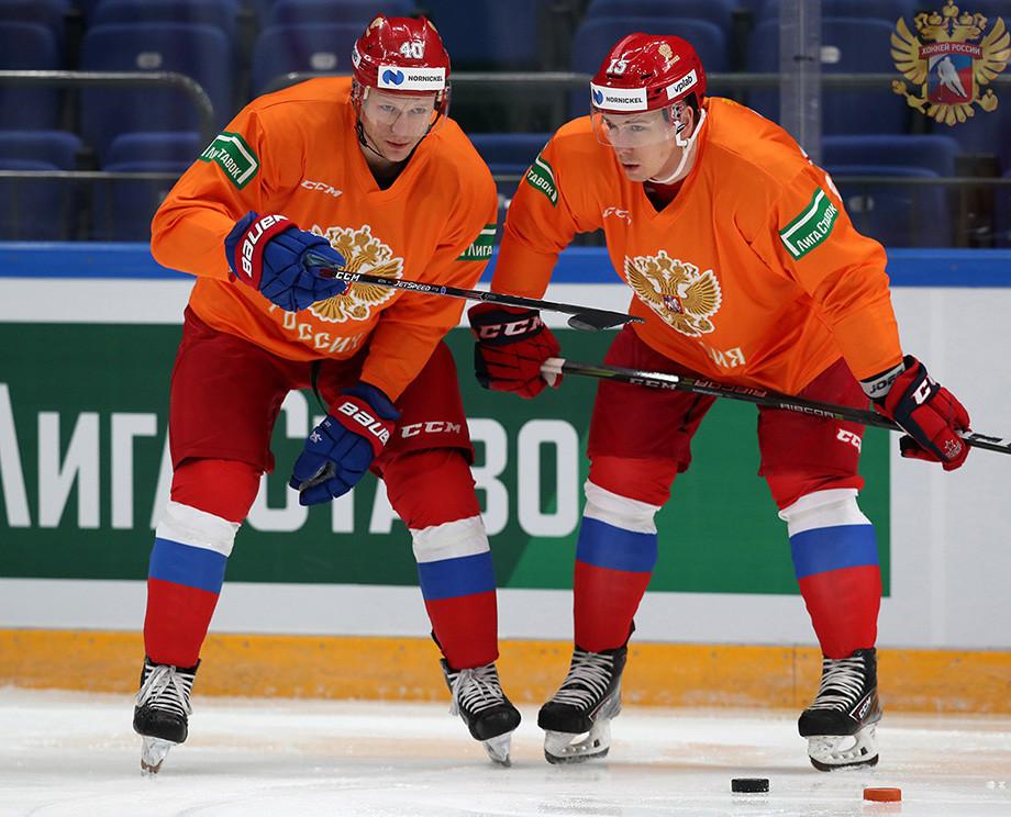 Открытая тренировка сборной России перед Кубком Первого канала-2019