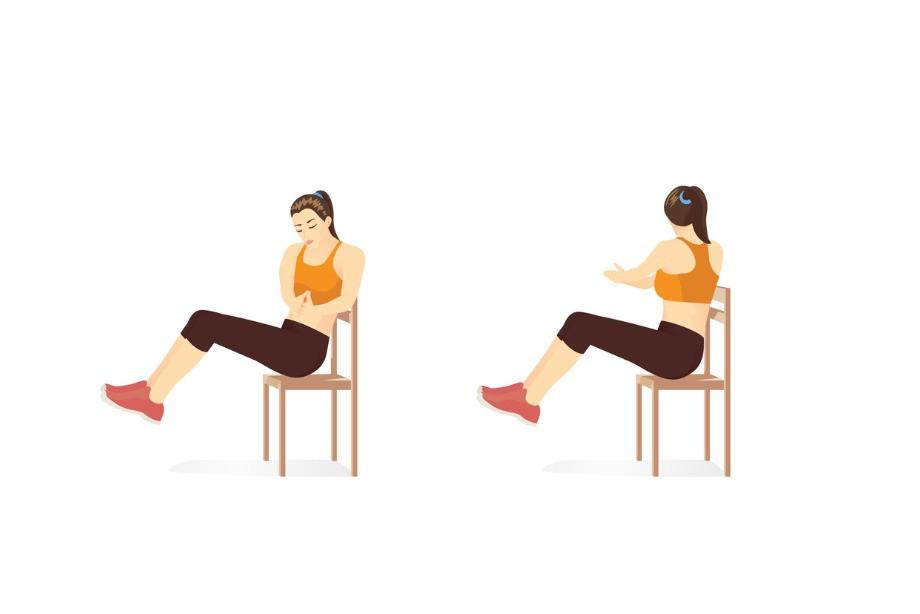 Упражнения со стулом для домашней тренировки. Эффективная прокачка тела. Инструкция