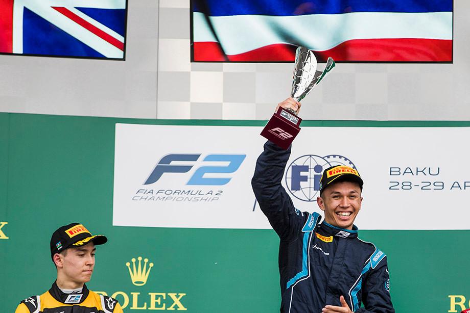 Первая победа Албона в Формуле-2