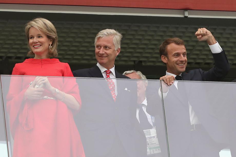 Король Бельгии Филипп и президент Франции Эмманюэль Макрон