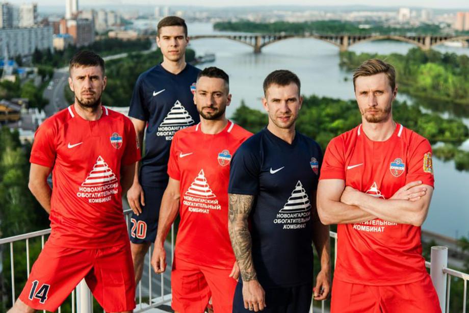 Новая форма ФК Енисей на сезон 2019-2020   фото изоражения