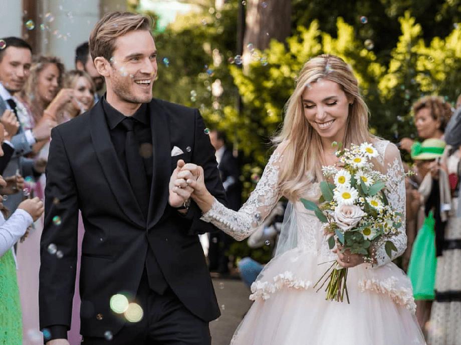 PewDiePie со своей женой Марцией Бизоньин