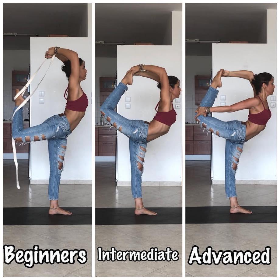 Как научиться делать сложные асаны в йоге? Видео-инструкция. Прогресс до и после
