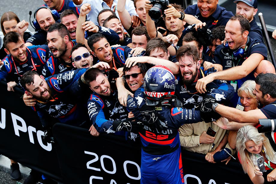 Даниил Квят после подиума на Гран-при Германии-2019
