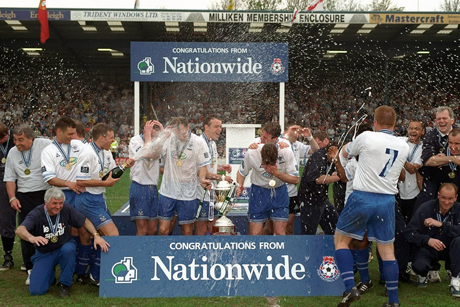 «Бери» празднует чемпионство во Втором дивизионе. 1997 год