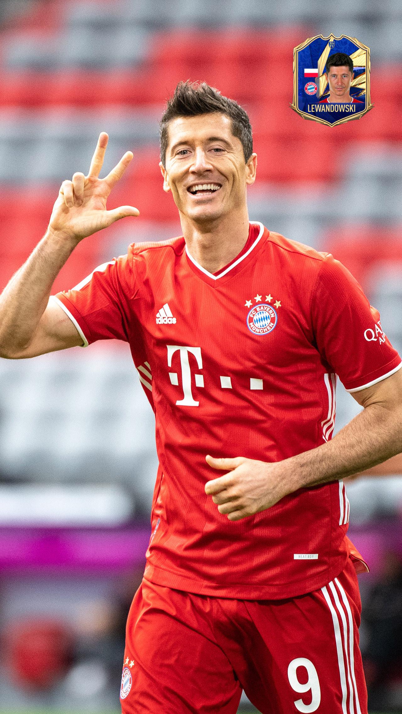 Центральный нападающий: Роберт Левандовски («Бавария»)
