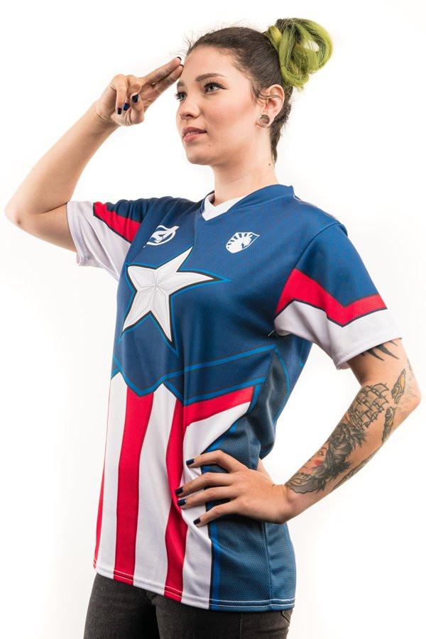 Майка в стиле Капитан Америки