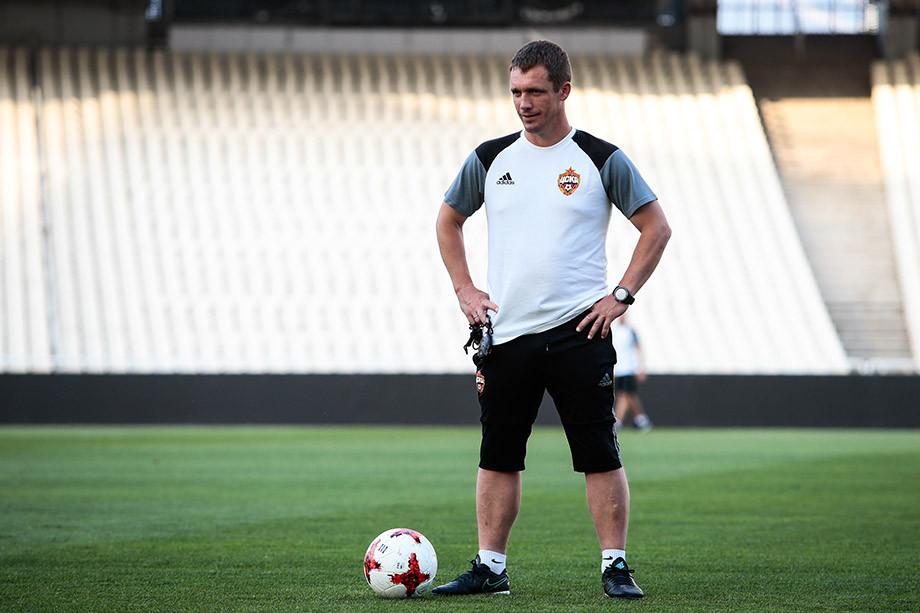 Виктор Гончаренко на тренировке ЦСКА
