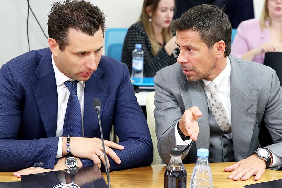 Совет директоров КХЛ. Роман Ротенберг, Александр Крылов.