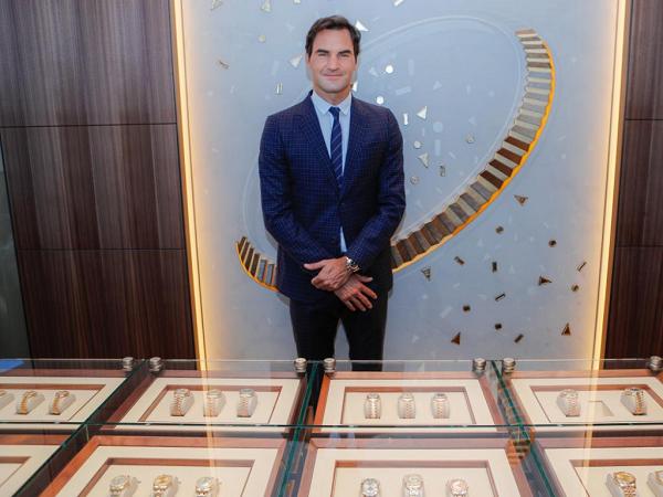 Федерер на открытии бутика Rolex