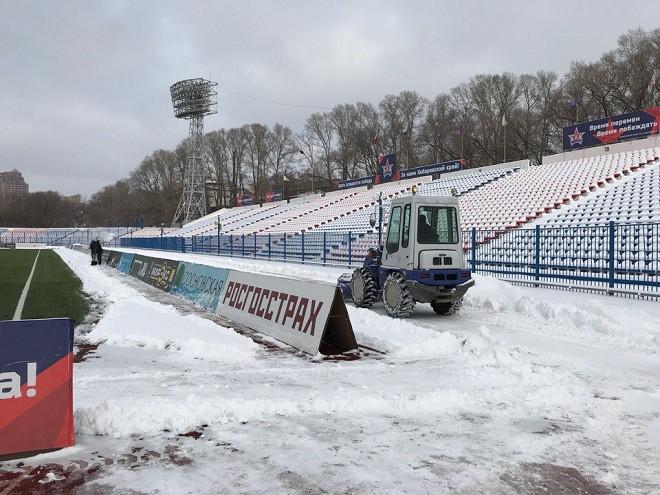 Стадион в Хабаровске за 75 часов до начала матча