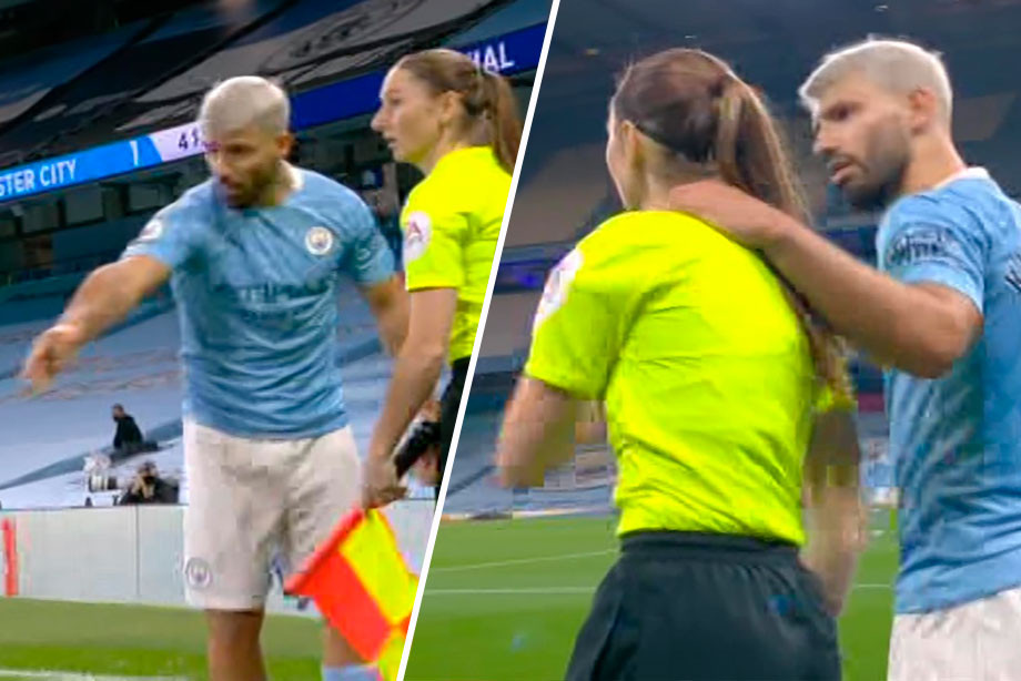 «Манчестер Сити» победил «Арсенал», а Агуэро зачем-то потрогал девушку-судью