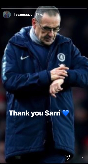Акционер «Челси» в «Инстаграме» поблагодарил Сарри