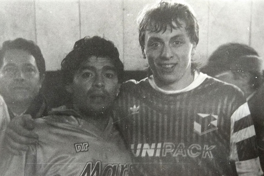 Валерий Шмаров и Диего Марадона