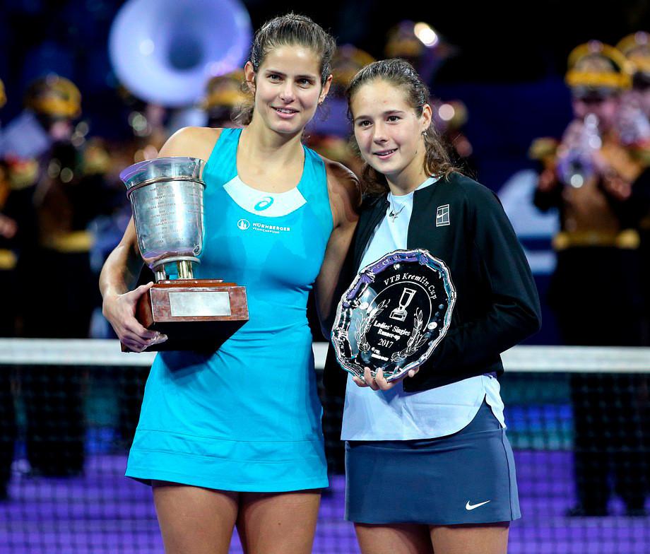 Юлия Гёргес завершила карьеру, она выиграла Кубок Кремля, а Шарапова отдала ей своё платье