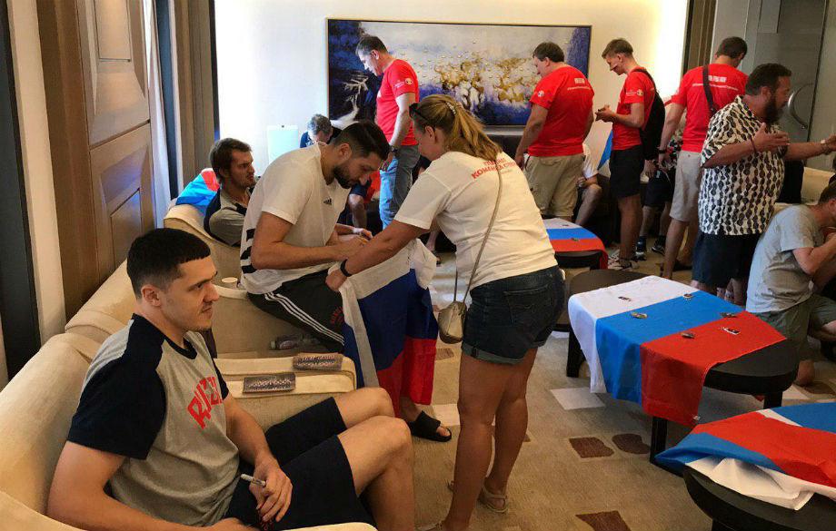 Встреча болельщиков с игроками сборной России по баскетболу