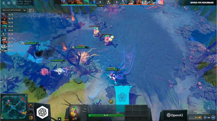 Match bots OpenAI Five against Team Human