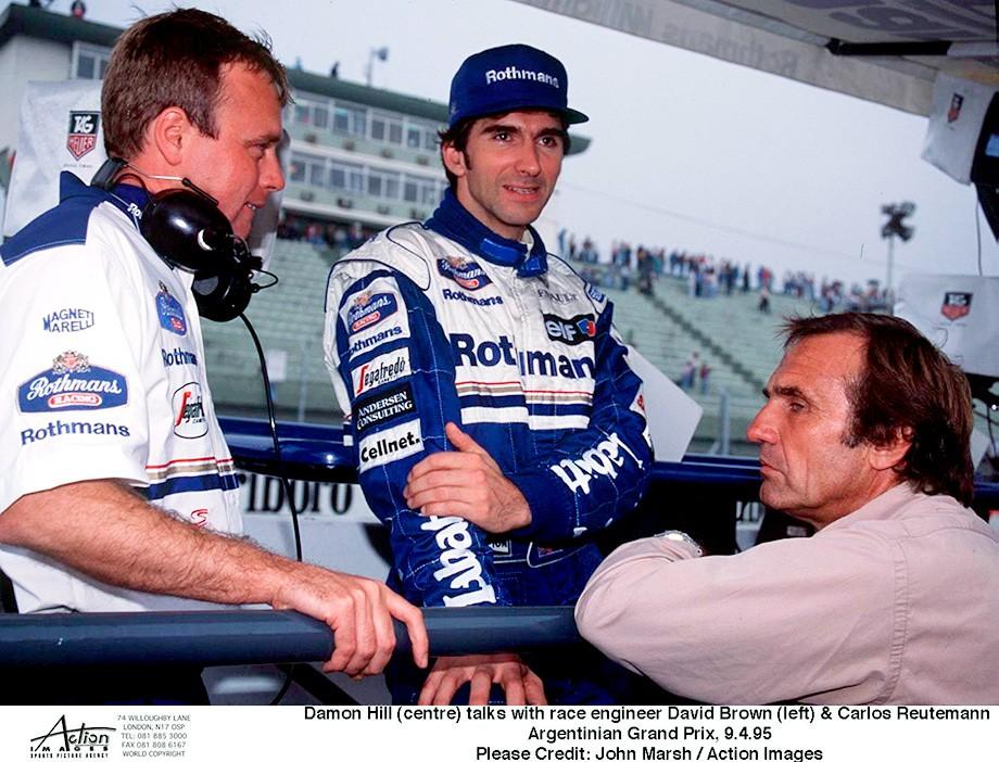 Ройтеман с Деймоном Хиллом на Гран-при Аргентины – 1995