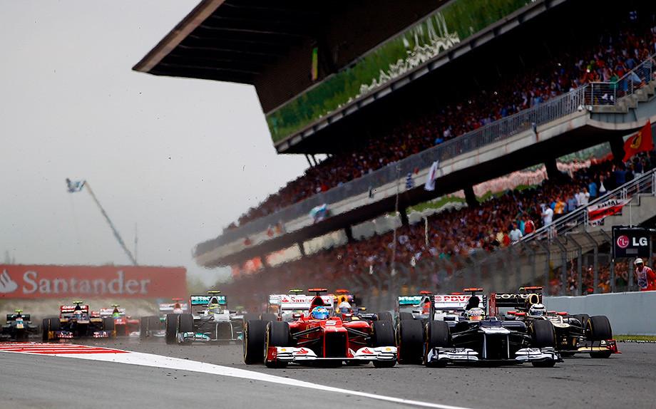 Старт Гран-при Испании-2012