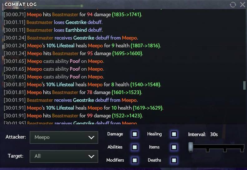 Логи матча с участием Meepo против SG e-sports