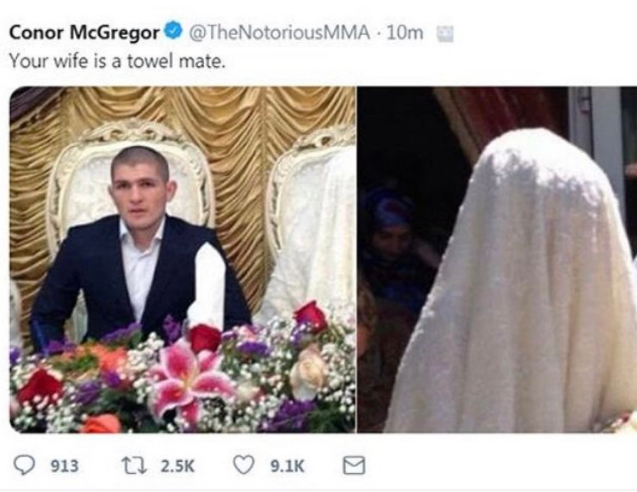 Удалённый твит Макгрегора