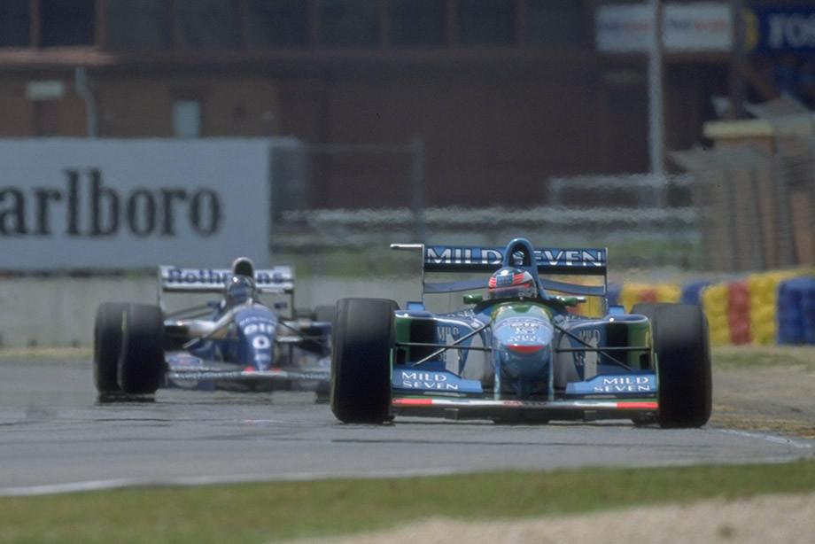 Шумахер и Хилл на Гран-при Австралии-1994.